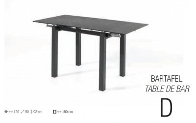 Table de bar Escape en céramique allongeable Lievens