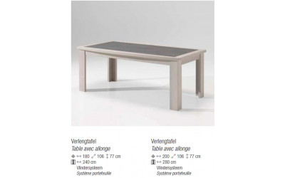 Table avec allonge Arome 774,00 €