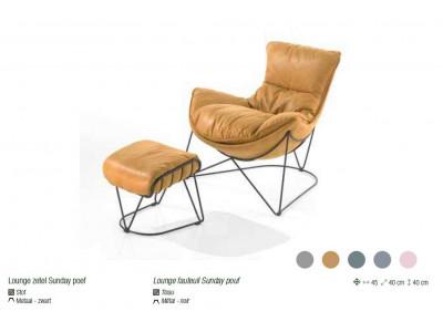Pouf fauteuil Sunday Lievens
