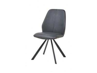 Chaise 1902 PU gris / tissu brun 94,00 €