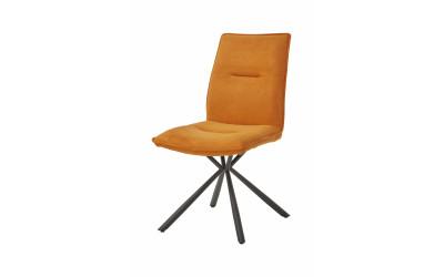 Chaise 1918 Tissu Orange-Gris-Brun