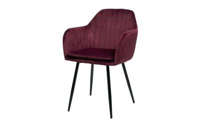 Chaise 2003 Tissu Bordeaux - Noir - Gris